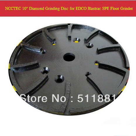 10'' Diamond Concrete Grinding Disc Head Plate for EDCO Blastrac SPE  concrete grinder | 250mm Cement Abrasive disk | 20 segments