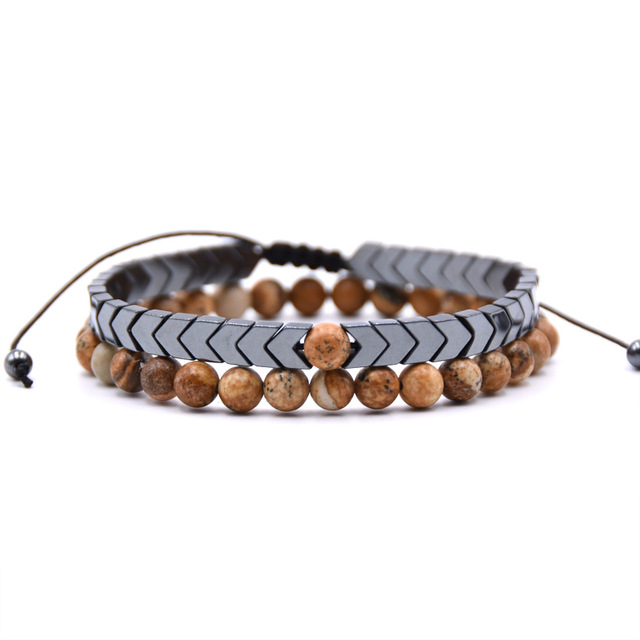 Bracelet longue distance marron