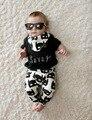 2017 estilo verão bebê menino roupas de algodão de moda bebê menina conjunto de roupas Batman ocasional de manga curta + calça 2 pcs terno recém-nascidos