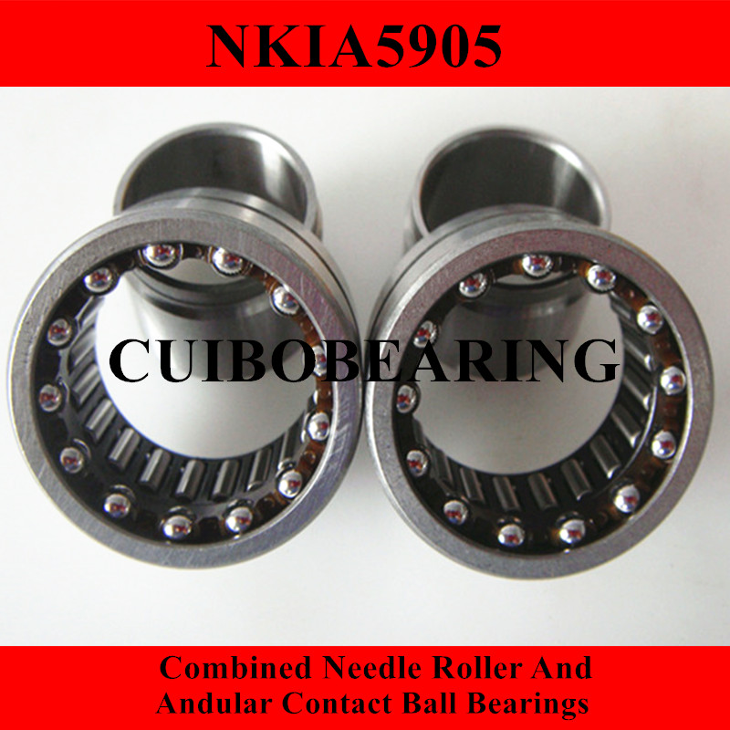NKIA  Combined Needle Roller And Angular Contact Ball Bearing NKIA5905 25X42X23 100pcs box zhongyan taihe acupuncture needle disposable needle beauty massage needle with tube
