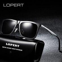 LOPERT brand designer Fashion vintage Unisex Aluminum Square Polarized Sunglasses Men Women Classic luxury Sun glasses UV400