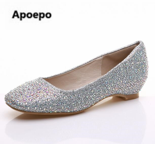 Apoepo Handmade wedding bride shoes bling bling crystal Pregnant shoes 3.5 cm increased internal low heels shoes mary janes shoe apoepo handmade wedding bride shoes bling bling crystal pregnant shoes 3 5 cm increased internal low heels shoes mary janes shoe