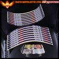 Azul/Vermelho/Ouro/cor Branca Motocicleta Roda Rim Stripe Adesivos Decalques Fita Para SUZUKI GSXR GSXR600 GSXR750 GSXR1000