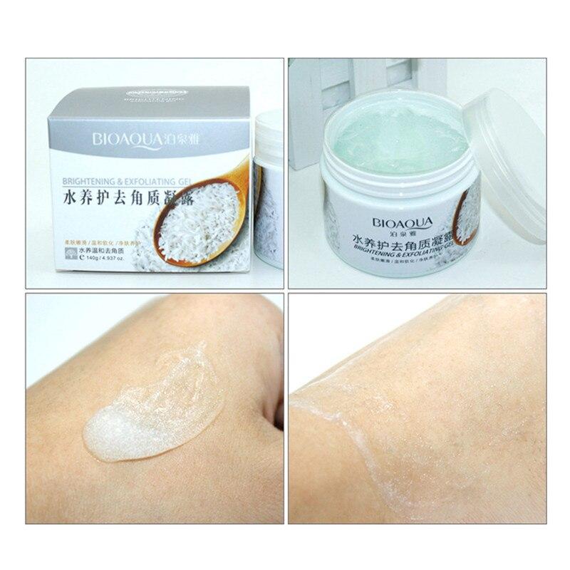 BIOAQUA Facial Cleanser Natural Facial Exfoliator Exfoliating Whitening Brightening Peeling Cream Gel Face Scrub Removal 3
