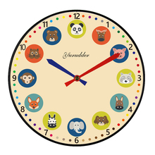 New Arrival No Frame MDF Wall Clock Modern Animal Cartoon Design Fashion Wood Decorative DIY 28cm Children Room Wall clock