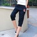 Nuevas Mujeres Casual Harem Recortada Pantalones de Ropa Exterior Femenina de Las Mujeres Elásticos Flojos Recortada Pantalones Siete Pantalones Cortos de Los Capris