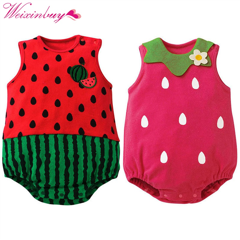 Baby   Rompers   Newborn Jumpsuits Clothes De Baby Cartoon Infantil Girl Sleeveless Clothing Cute Bebe Roupas kids boys