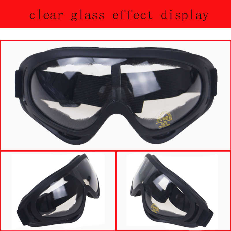 e87137051b ... Motorcycle Accessories Bike ATV Motocross UVProtection Ski Snowboard Off -road Goggles FITS OVER RX GLASSES