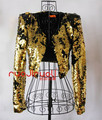 female sexy costumes  sequins golden silver jacket outfit stage show singer dancer performance party fashion nightclub bar prom