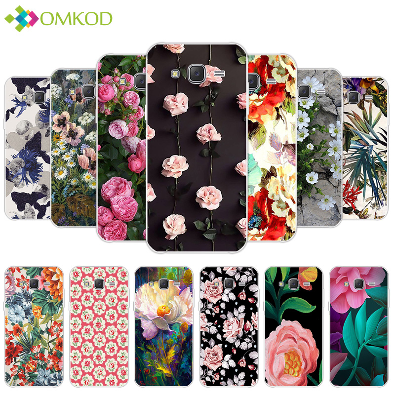 For Samsung Galaxy J5 2015 Clear Case Soft Silicone 5.0 inch for Samsung J5 J5008 SM-J500F J500 J500F Phone Flowering Back Cover image