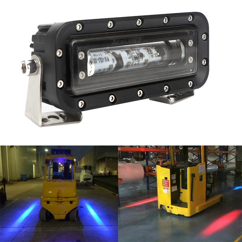 30W LED Forklift Spot Light for Warehouse Danger Zone Warning Lamp Security Caution Red Blue