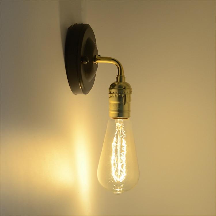 Lâmpadas de Parede edison e27 suporte da lâmpada Características : Wall Mounted