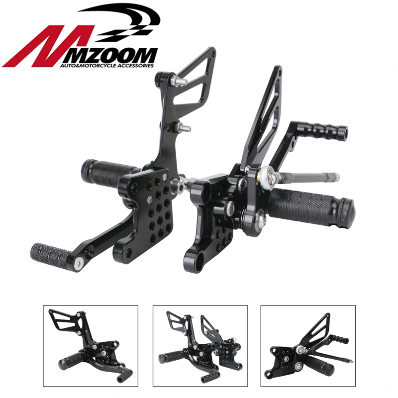 CNC Adjustable Rearset Footrest Foot Pegs Rear Footpegs Kit for Suzuki GSX-R600 GSXR600 K1 K2 K3 K4 K5 2000-2005 SV650 SV650SCNC Adjustable Rearset Footrest Foot Pegs Rear Footpegs Kit for Suzuki GSX-R600 GSXR600 K1 K2 K3 K4 K5 2000-2005 SV650 SV650S