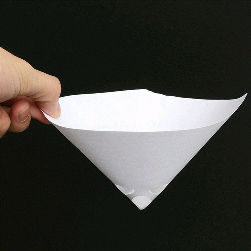 230pcs Car Nylon Conical Paper 100 Mesh Paint Strainer Filter Purifying Cup JA55