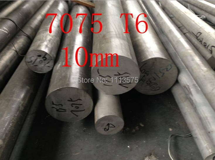10mm 7075 T6 al aluminium solid round bar rod