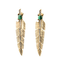 JOOLIM <font><b>Jewelry</b></font> Wholesale/2016 Retro Gold Plated Stud Earring Leaf Earring Party Earring Charm Earring Good Quality