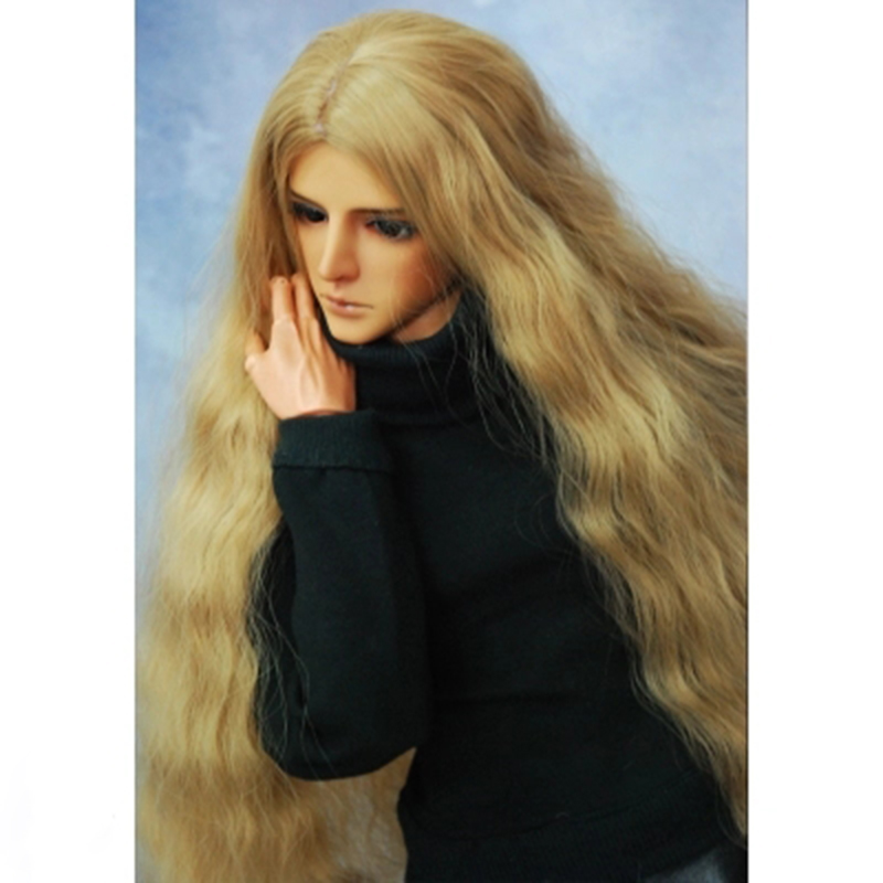 Allaosify 2018 Newest1/3 1/4 1/6 1/8 1/12 Bjd Wig High Temperature Long curly Fashion Wire Bjd Wig free shipping long curly green synthetic lace front cosplay party wig