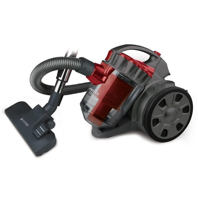 Пылесос электрический Vitek VT-1895 R (Безмешковый, мощность 1700 Вт, емкость пылесборника 2 л, 5 ступеней фильтрации)