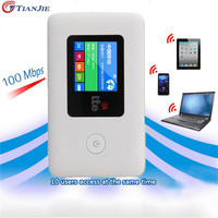 TIANJIE 4 גרם שותף נסיעות EDG GSM WiFi LTE WIFI נתב הנייד Wireless Pocket נתב Wi-Fi נייד עם כרטיס ה-SIM חריץ