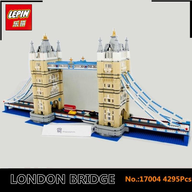 IN STOCK New LEPIN 17004 City Street Series London bridge Model Building Kits Assembling Brick Toys Compatible 10214 in stock new lepin 17004 city street series london bridge model building kits assembling brick toys compatible 10214