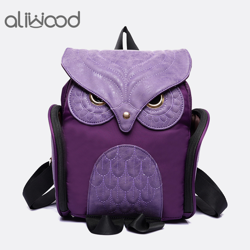 Fashion Women's Backpack 2017 Cute Owl Backpacks PU Leather School Bags For Teenagers Girls Female Rucksack Sac Mochila Feminina
