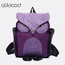 a09504063d12 Fashion Women s Backpack 2017 Cute Owl Backpacks PU Leather School Bags For  Teenagers Girls Female Rucksack · 5 Colors Available