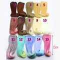 1pcs 15*100cm high temperature heat resistant doll hair for 1/3 1/4 1/6 BJD diy doll curly doll wigs