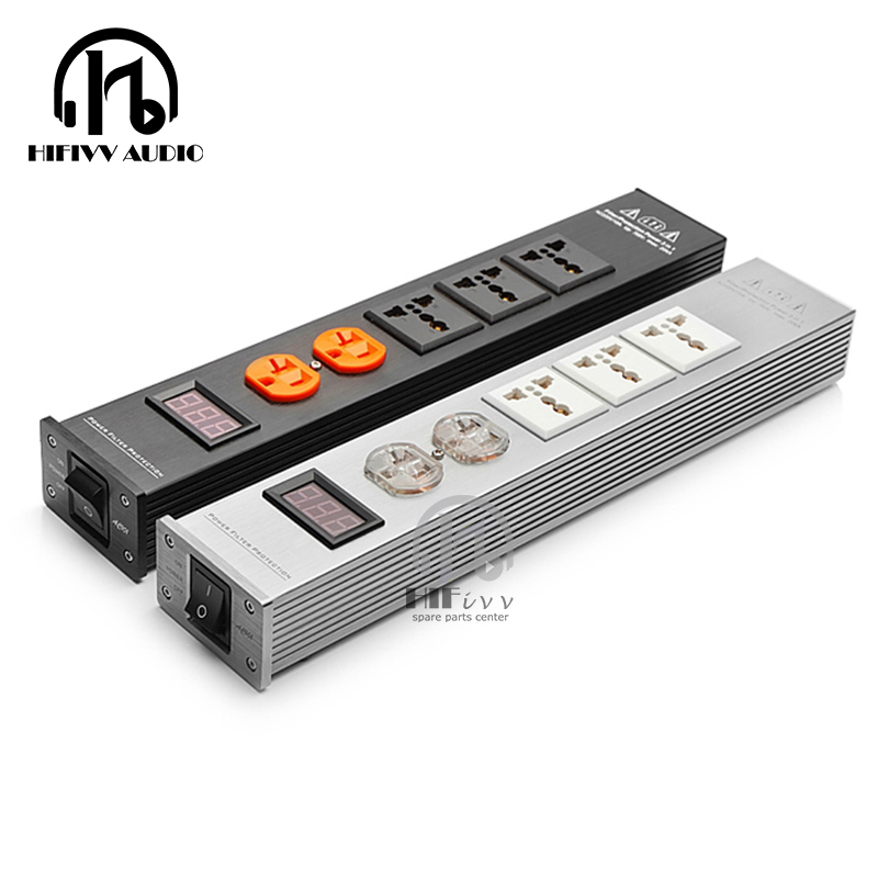 HIFivv audio LED High quality Advanced Audio Power Filter AC Power Socket universal Power filter
