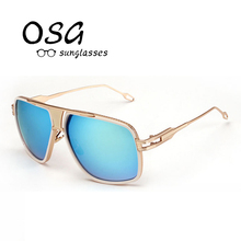 OSG 2017 Hot Selling Retro Fashion Outdoor Driving Sunglasses for Men glasses Brand Designer with High Quality 7 Colors