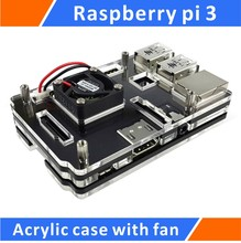 Big discount Raspberry Pi 3 Acrylic Case with Cooling fan Black