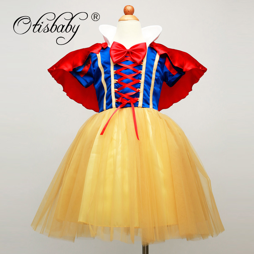 HOT Summer Girls Snow White Princess Dresses for Kids Baby Girl Cosplay Costume Birthday Clothes Children's Party Dress Clothing 2017 new girls dresses for party and wedding baby girl princess dress costume vestido children clothing black white 2t 3t 4t 5t