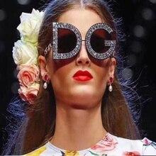aef6d19ede2 2018 Diamond D And G Round Sunglasses Women 2018 New Luxury Brand Designer  Ladies Shades Square