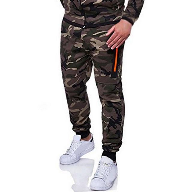 Heflashor Men casual Pants fashion Camouflage Male  Pencil Pants Men Military Pant Trousers Sportwear Hip  bottom