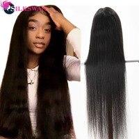 SilkSwan полный парик шнурка натуральный цвет прямые девственные волосы парики предварительно сорвал с волосами младенца 28 30 дюймов 32 34 36 дюймо