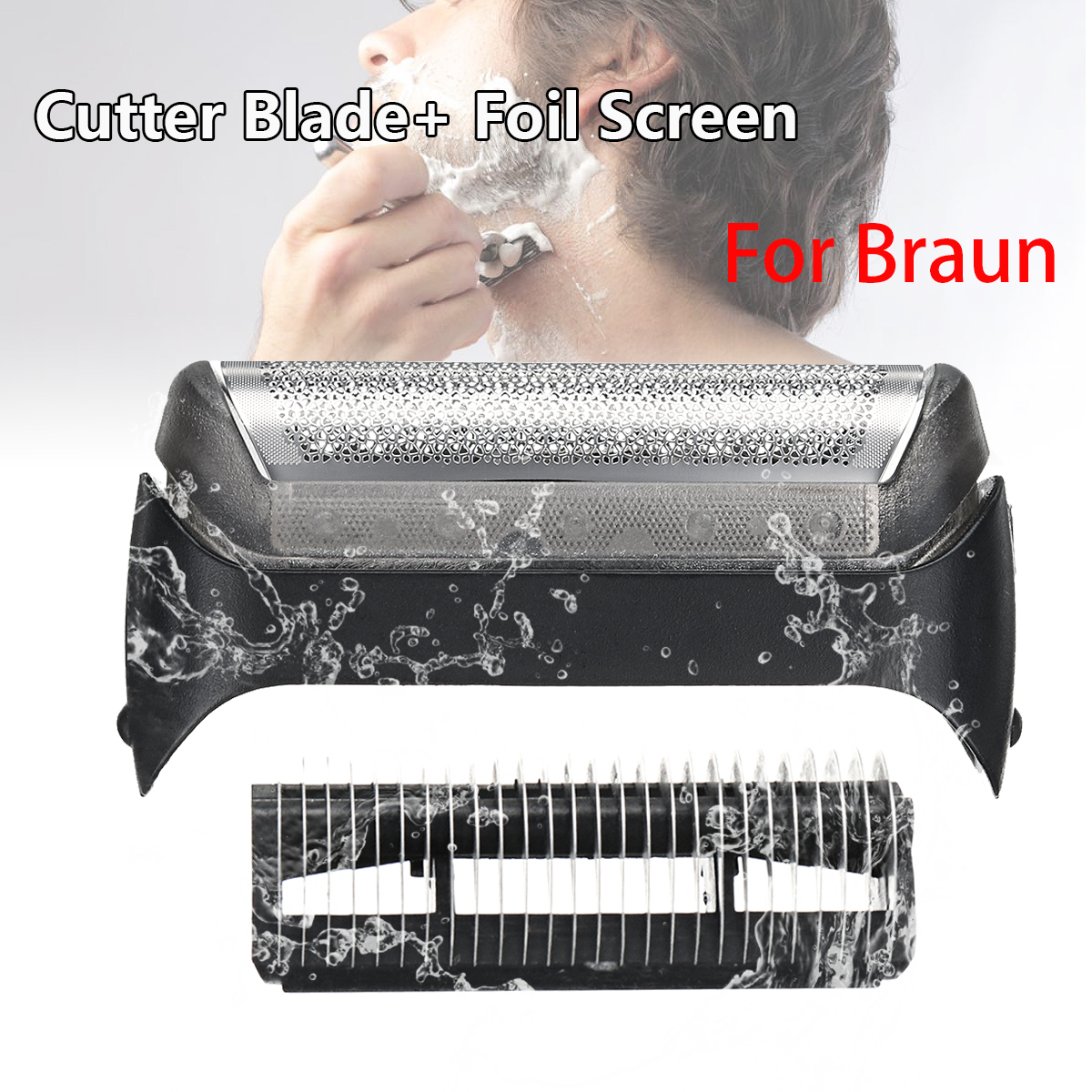Shaver Blade Cutter Head Replacement Foil For Braun 10B Series 190 180 170 1735