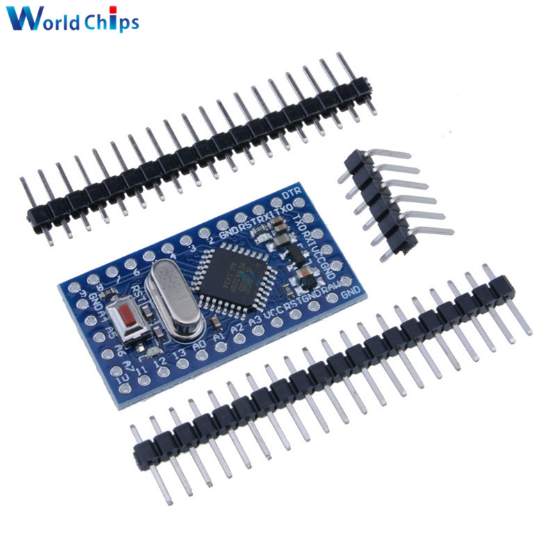 Pro Mini atmega328 Mini ATMEGA328P 5V 16MHz Module For Arduino Nano With Crystal Oscillator Pins Replace ATMEGA128