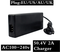 50.4V 2A High quality charger 50.4V 2A lithium li ion charger for 12S lithium battery pack fake one lost ten free shipping