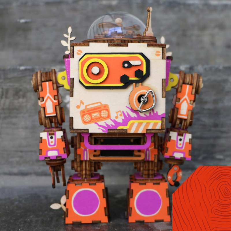 Robotime-Limited-Edition-Colorful-Robot-Model-Building-Kit-Wooden-Steampunk-Music-Box-Toy-Gift-for-Children (2)