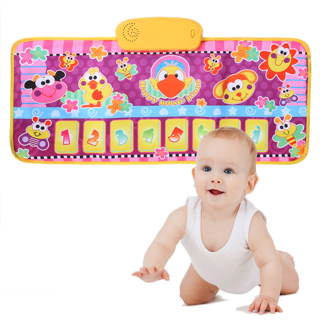 New Children Early Education Mats Baby Puzzle Toy Animals Music Blanket Crawling Mat Early Childhood Kick and Play Piano Toys
