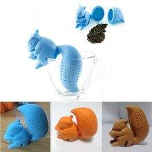 1pcs Tea strainers Infuser Tools Squirrel Shape Loose Leaf Strainer Bag Mug Filter D2