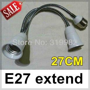 3pcs/lot, 27cm E27 extended lamp holder universal conversion base, freely rotation, light bulb socket extension, free shipping