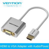 Vention HDMI To VGA Adapter Converter Cable Male To Female Audio Micro USB Port Power For