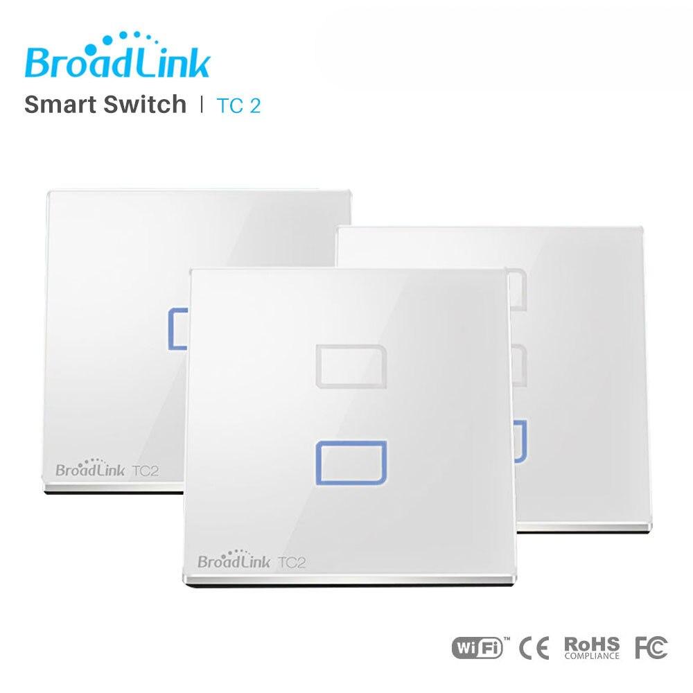 Broadlink TC2 UE WiFi Interruptor de Parede Padrão Da UE Interruptor Da Luz Da Lâmpada de Controle Sem Fio Via RM Pro RM mini3 Via App controle de Smartphones