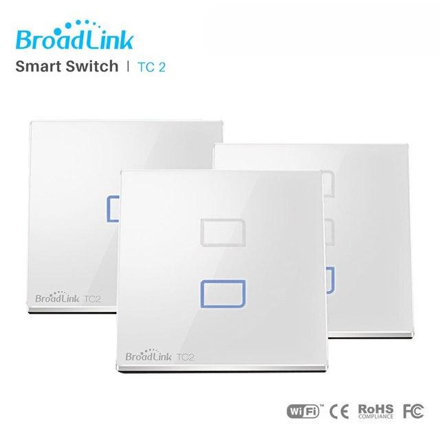 Controlador Broadlink TC2 UE WiFi interruptor de la UE estándar pared luz lámpara interruptor inalámbrico de Control a través de RM Pro RM mini3 a través de App control Smartphone