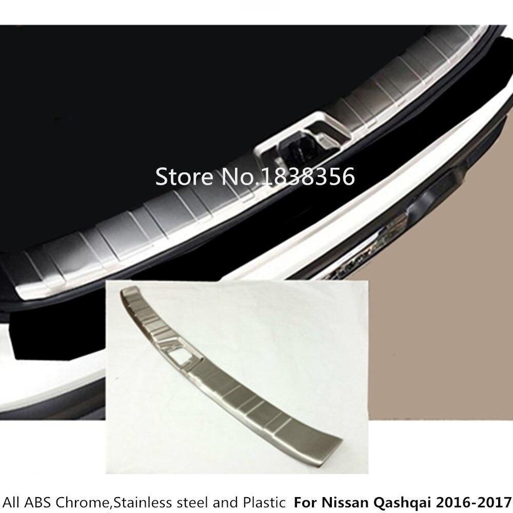 Pour Nissan Qashqai 2016 2017 2018 2019 acier inoxydable arrière pédale porte éraflure cadre intérieur seuil intérieur 1 pièces