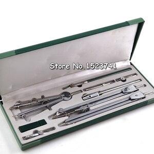 Image 1 - Instrumento de dibujo mecánico H4009 auténtico, 9 unidades por juego, compás, nine suit, juegos de matemáticas, papelería de oficina