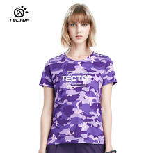 Tectop Spring and summer T Shirts Women Outdoor Quick Dry Breathable O Neck short sleeve