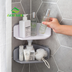 JiangChaoBo Corner Drain Shelves Bathroom Storage Rack Bathroom Punch-Free Powerful Wall-Mounted Wash Shelf