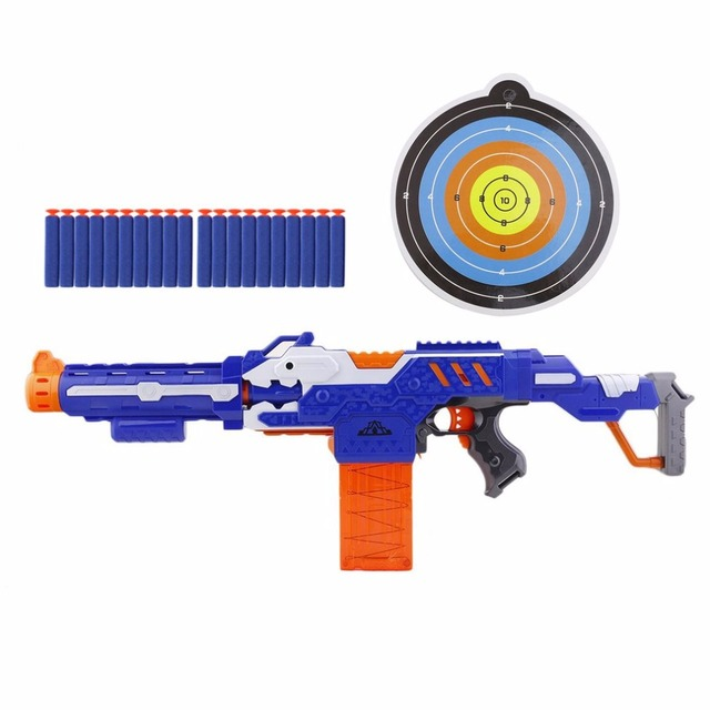 kids electric soft bullet gun toy for nerf pistol sniper rifle plastic gun 20 bullets 1
