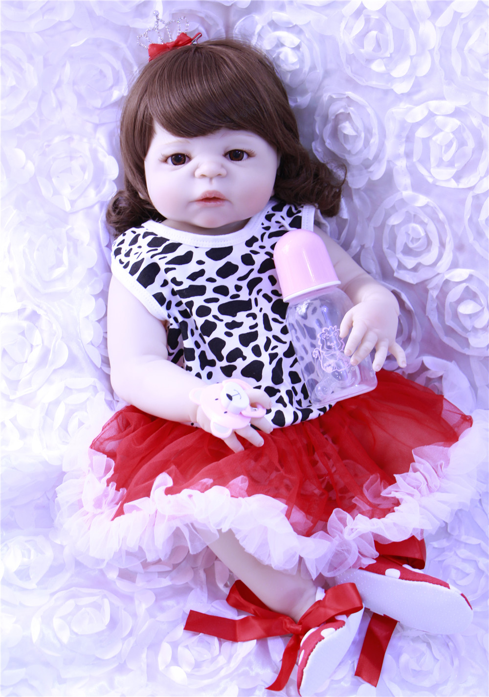 Bebe princess reborn 23 full silicone dolls reborn babies alive bonecas curly hair wig can bathe bonecas reborn toy dollsBebe princess reborn 23 full silicone dolls reborn babies alive bonecas curly hair wig can bathe bonecas reborn toy dolls